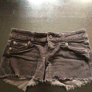 Corduroy Brown Jean Shorts
